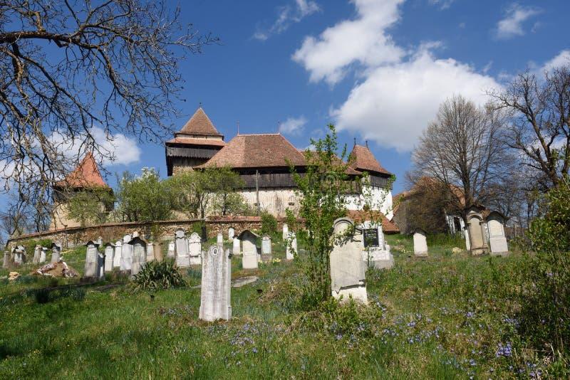 Een hoek van theTraditionaldorp Roemeen van Viscri, Transylva royalty-vrije stock fotografie