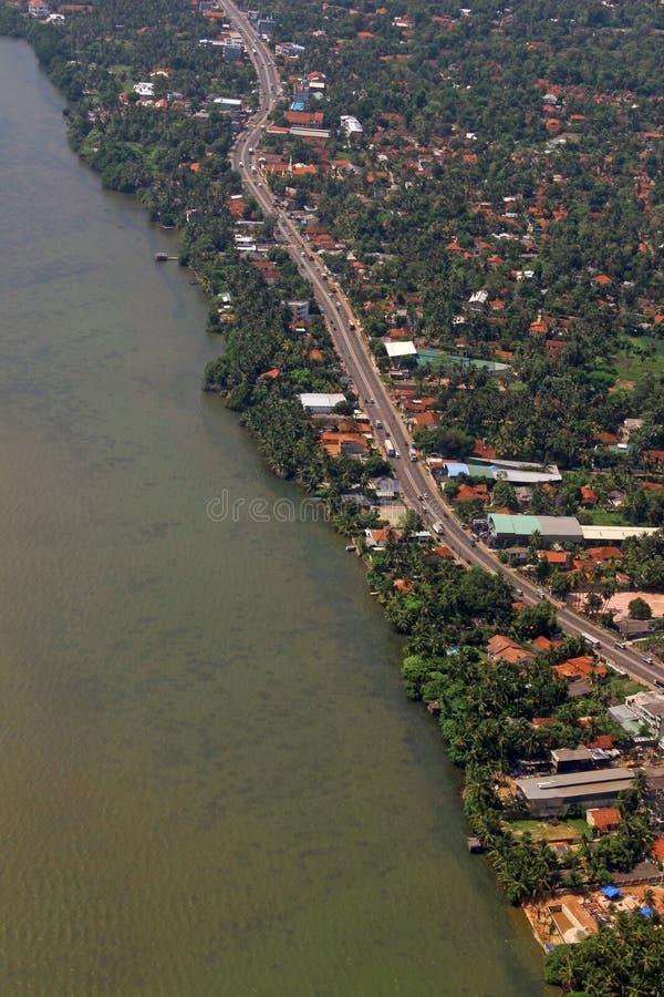 Een hoge vlucht nemende Tropische Eiland Moderne Bouw Colombo Sri Lanka stock foto