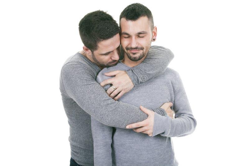 Download Een Homoseksueel Paar Over Een Witte Achtergrond Stock Afbeelding - Afbeelding bestaande uit hartstocht, geslacht: 54081857