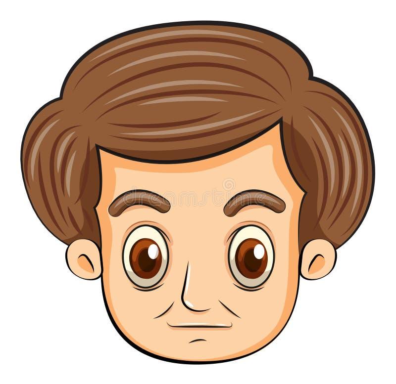 Een hoofd van een ernstige kijkende mens vector illustratie