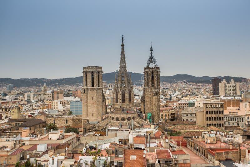 Een hoogste mening van Barcelona royalty-vrije stock afbeelding