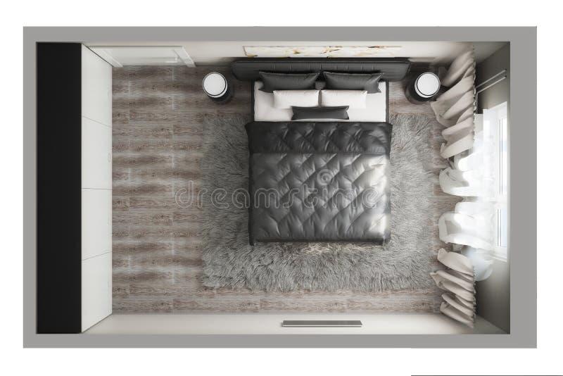 Een hoogste mening van de slaapkamer royalty-vrije illustratie