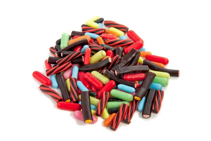Een hoop kleurrijk suikergoed royalty-vrije stock foto's