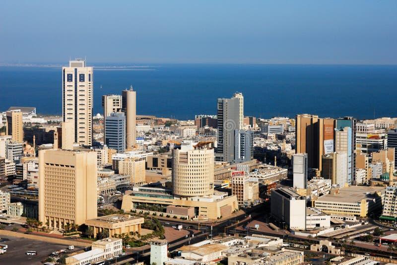 Een horizonmening van de Stad van Koeweit royalty-vrije stock afbeelding