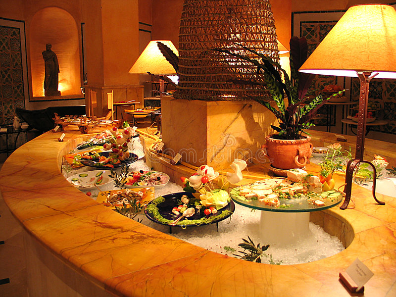 Een hotelbuffet