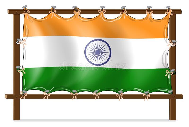 Download Een Houten Kader Met De Vlag Van India Vector Illustratie - Illustratie bestaande uit randen, groen: 39117083