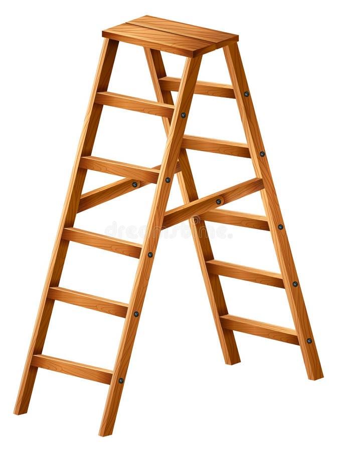 Een houten ladder vector illustratie