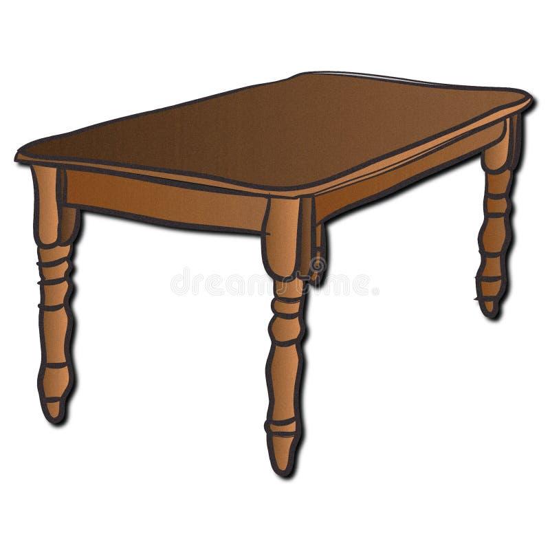 Een houten lijst stock illustratie