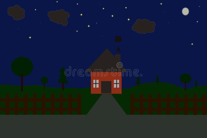 Een huis bij nacht royalty-vrije stock foto's