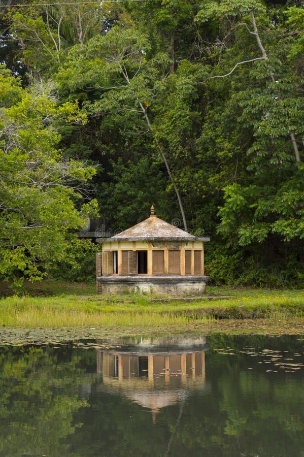 Een huis bild in kant van bos royalty-vrije stock fotografie