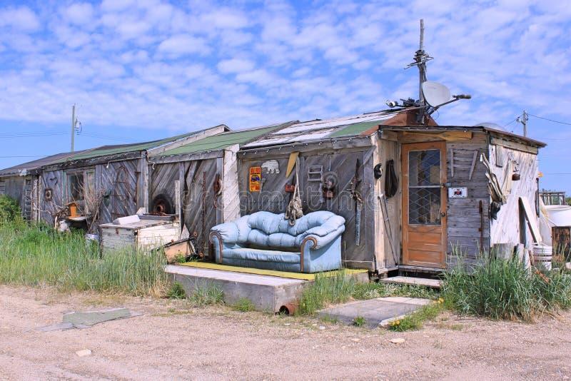 Een huis in Churchill, Manitoba royalty-vrije stock foto