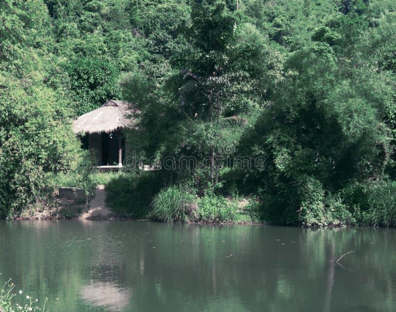 Een huis in de wildernissen van Vietnam toning stock afbeeldingen