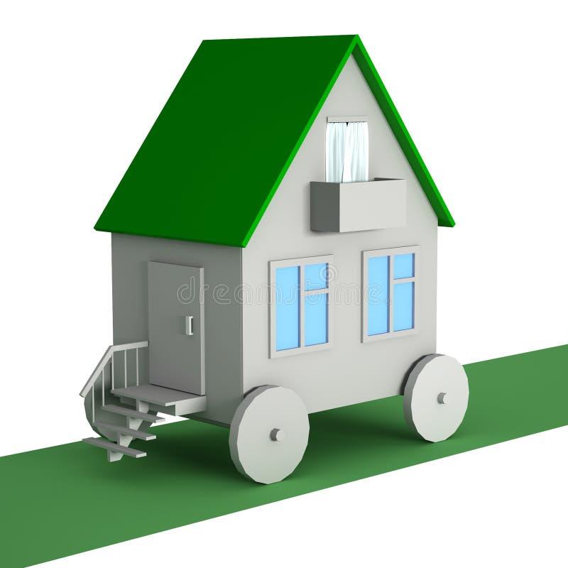 Een huis op wielen stock illustratie