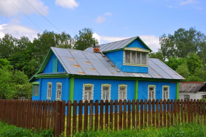 Een huis in Tarusa, Rusland stock foto's