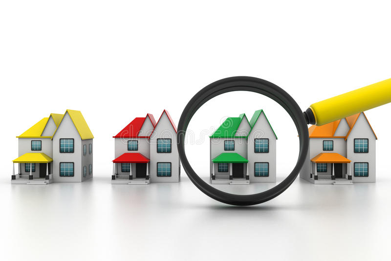 Een huis zoek vector illustratie