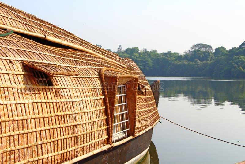 Een huisboot De binnenwateren van Kerala royalty-vrije stock foto