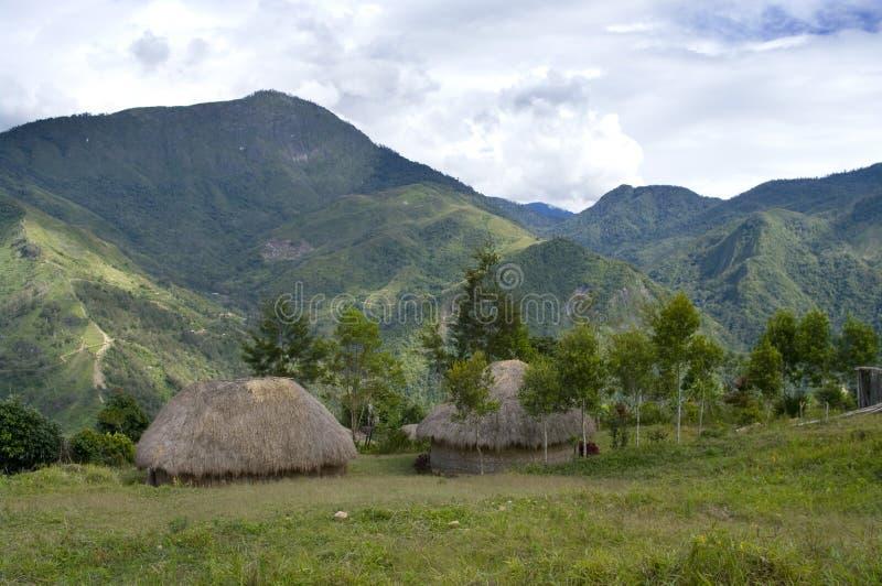 Een hut in een Indonesisch dorp stock foto