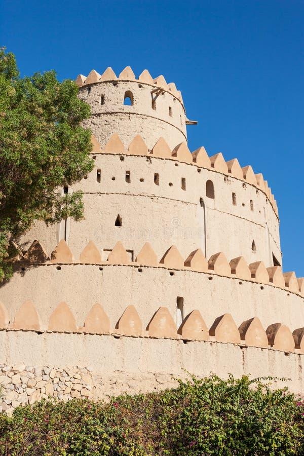 Een Iconische Reeks Torens in Al Jahli Fort, de V.A.E stock afbeelding