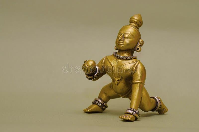 Een idool van Lord Krishna, Pune, Maharashtra stock afbeeldingen