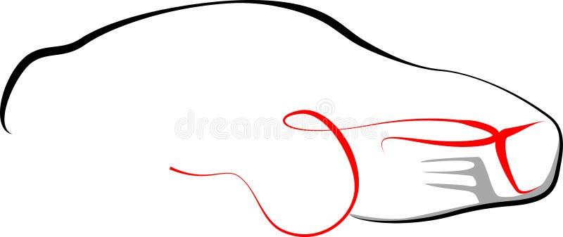 De illustratieontwerp van Audi van de sportwagen r8 royalty-vrije illustratie