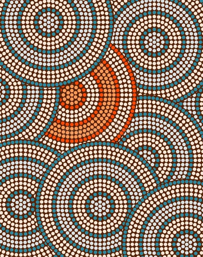 Een illustratie op inheemse stijl van punt het schilderen depicti wordt gebaseerd die royalty-vrije illustratie