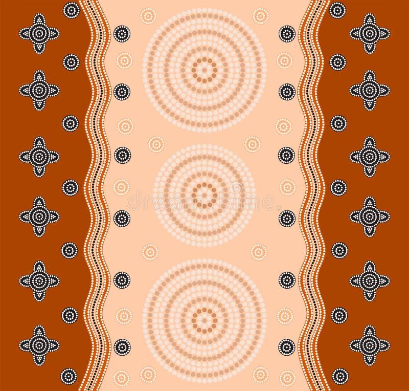 Een illustratie op inheemse stijl van punt het schilderen wordt gebaseerd schildert die af royalty-vrije illustratie
