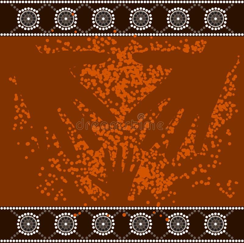 Een illustratie op inheemse stijl van puntpa die wordt gebaseerd stock illustratie