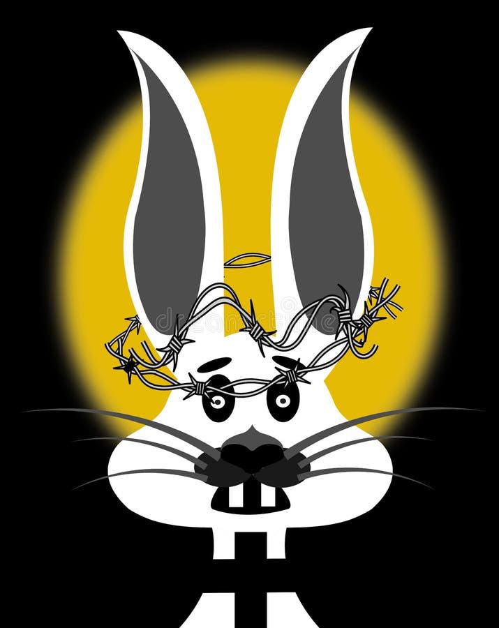 Een illustratie van bekroond doen schrikken weinig konijn royalty-vrije illustratie