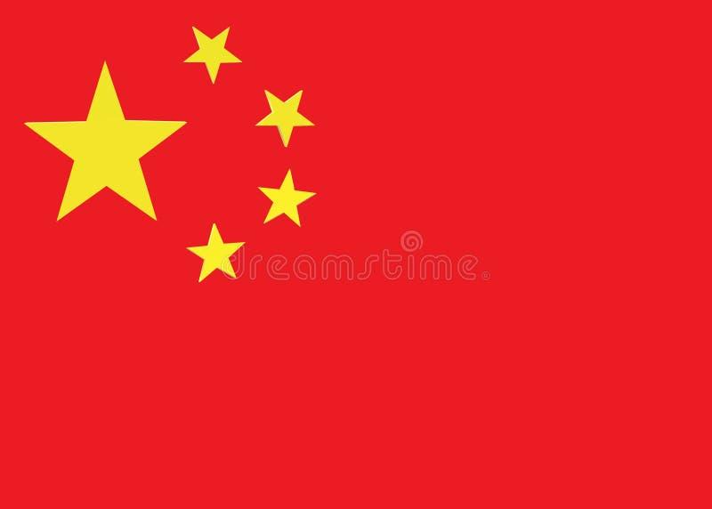 Een illustratie van de vlag van China stock illustratie
