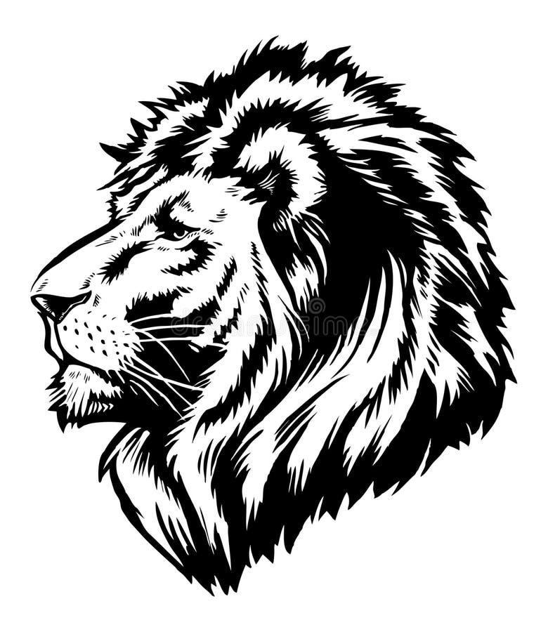 Hoofd Grafisch van de leeuw royalty-vrije illustratie