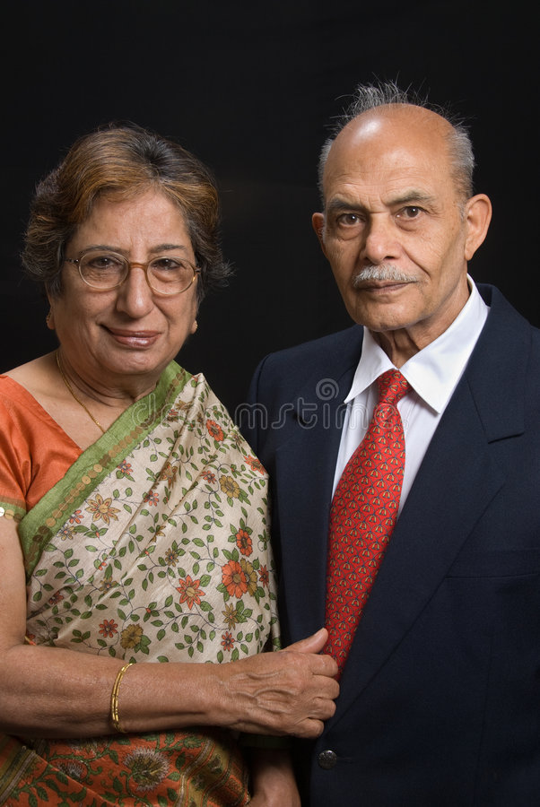 Een Indisch paar van het Oosten royalty-vrije stock foto's
