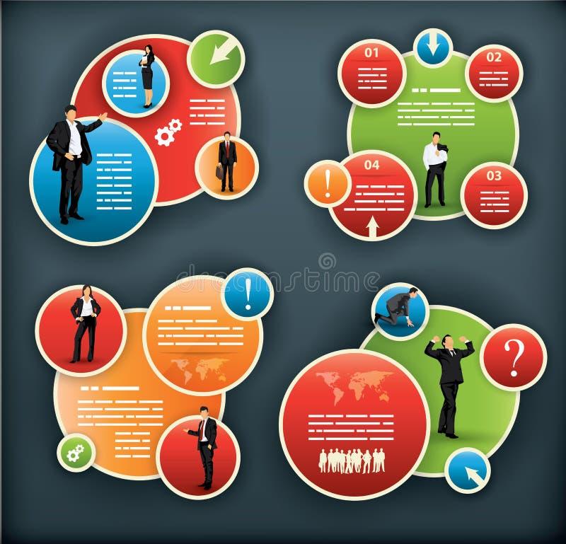 Een infographic malplaatje voor collectief en zaken stock illustratie