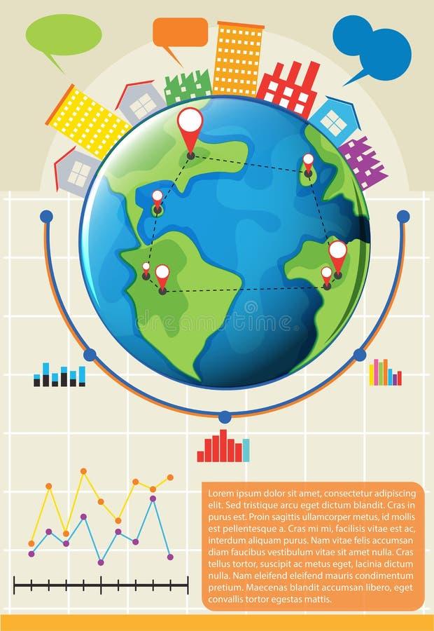 Een infographics die de bol tonen vector illustratie