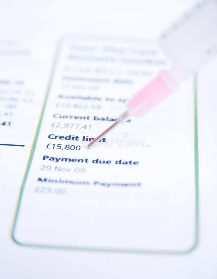 Een injectie van persoonlijk krediet. royalty-vrije stock foto's