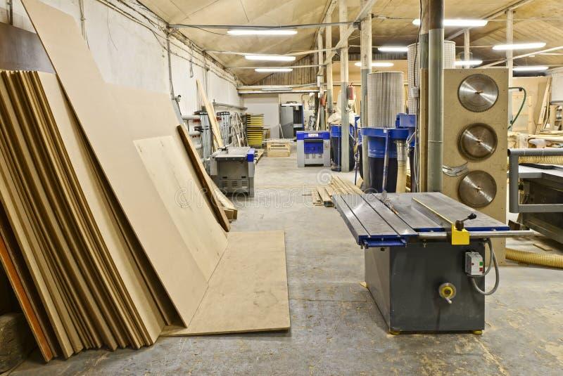 Een installatie voor productie van meubilair stock afbeeldingen