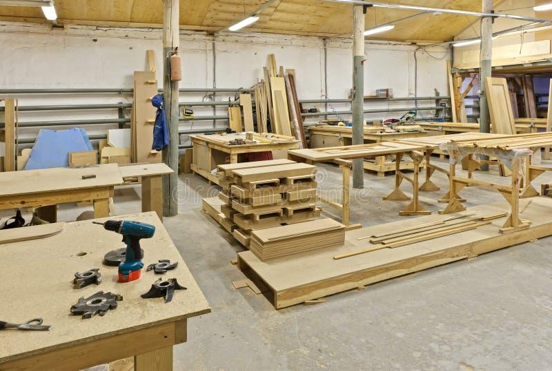 Een installatie voor productie van meubilair stock fotografie