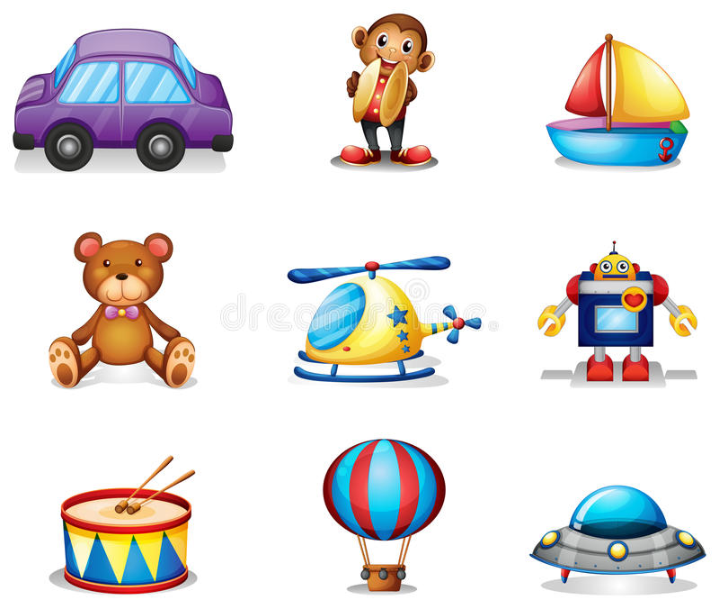 Een inzameling van speelgoed vector illustratie