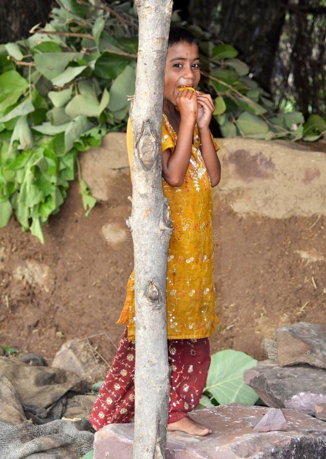 Een jong Indisch stammenmeisje stock foto