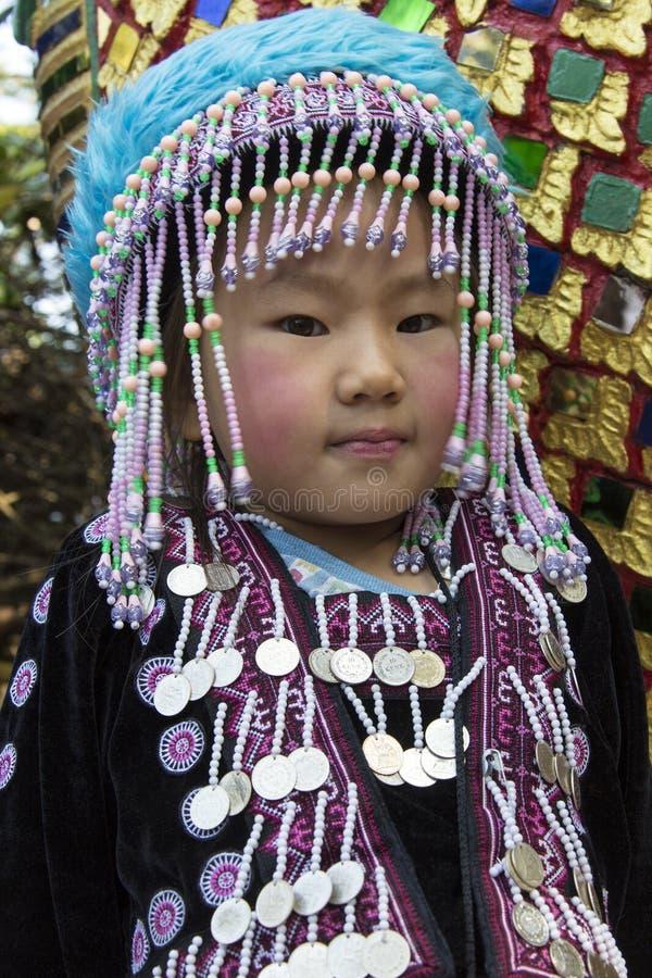 Kind bij MAI Doi Suthep - Chiang - Thailand stock foto