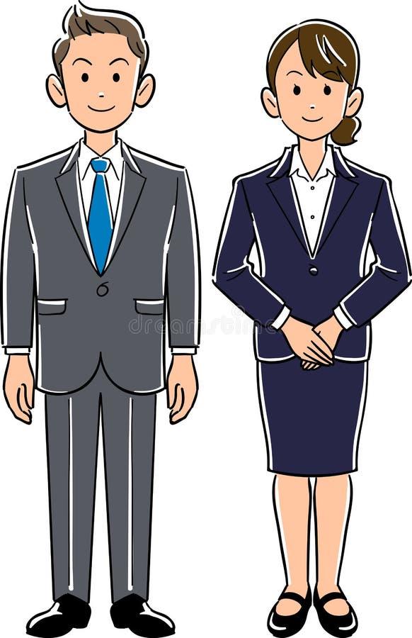 Een jonge bedrijfsman en een vrouw vector illustratie