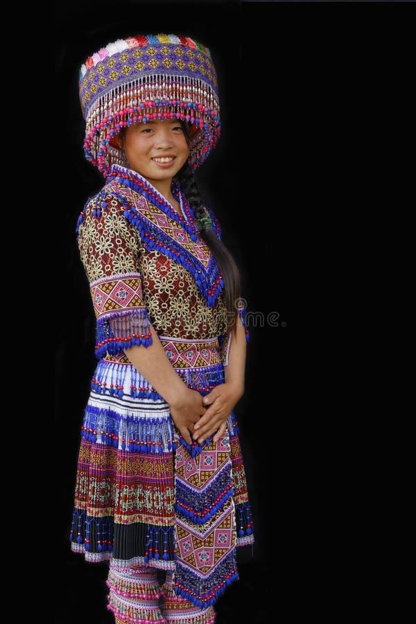 Een jonge H'Mong-dame stock afbeeldingen