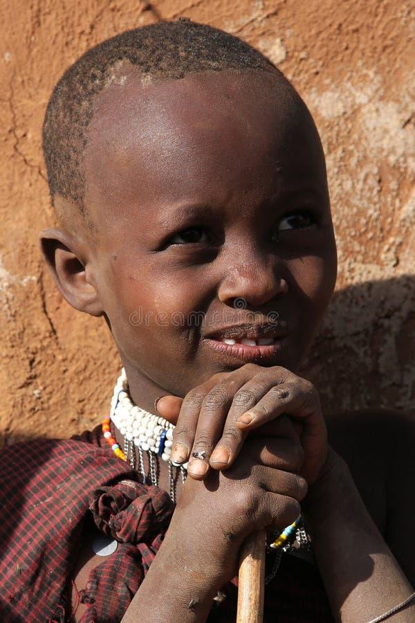 Een jonge Masai stock afbeelding