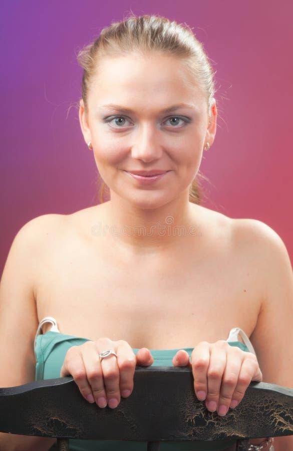 Een jonge mooie vrouw royalty-vrije stock foto