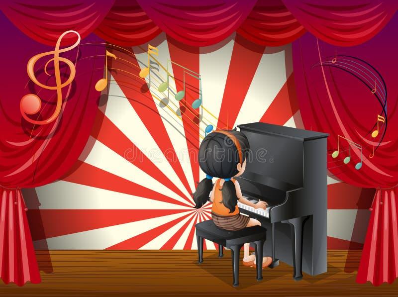 Een jonge pianist stock illustratie