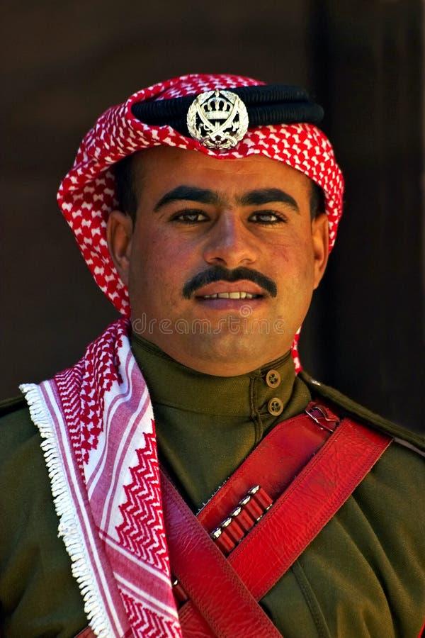 Een Jordanian wacht stock fotografie