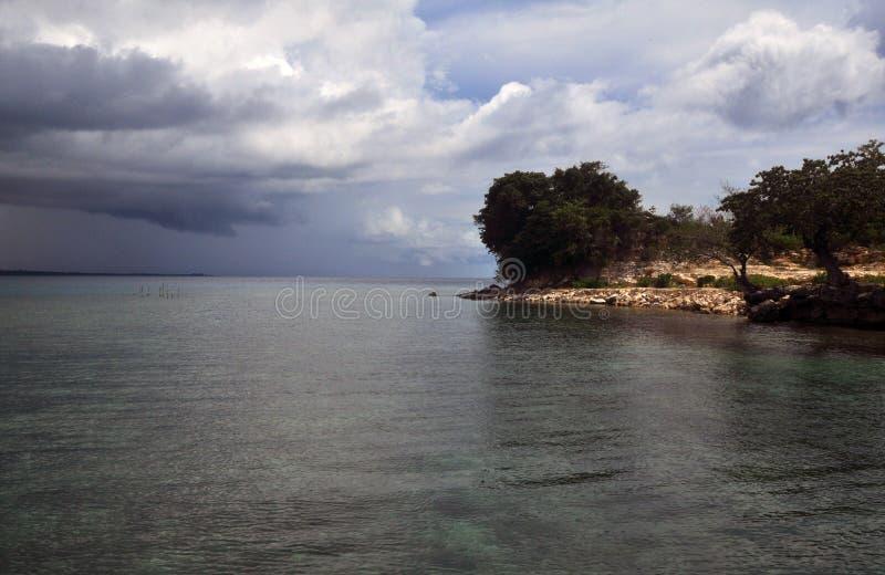 Een kaap in het kangean eiland, Sumenep, EastJava-Indonesië royalty-vrije stock afbeelding