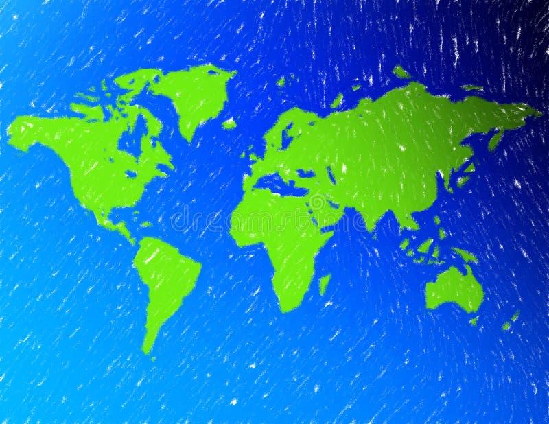Een Kaart Van De Wereld Royalty-vrije Stock Foto