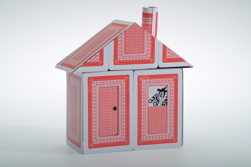 Een kaartenhuis royalty-vrije stock foto