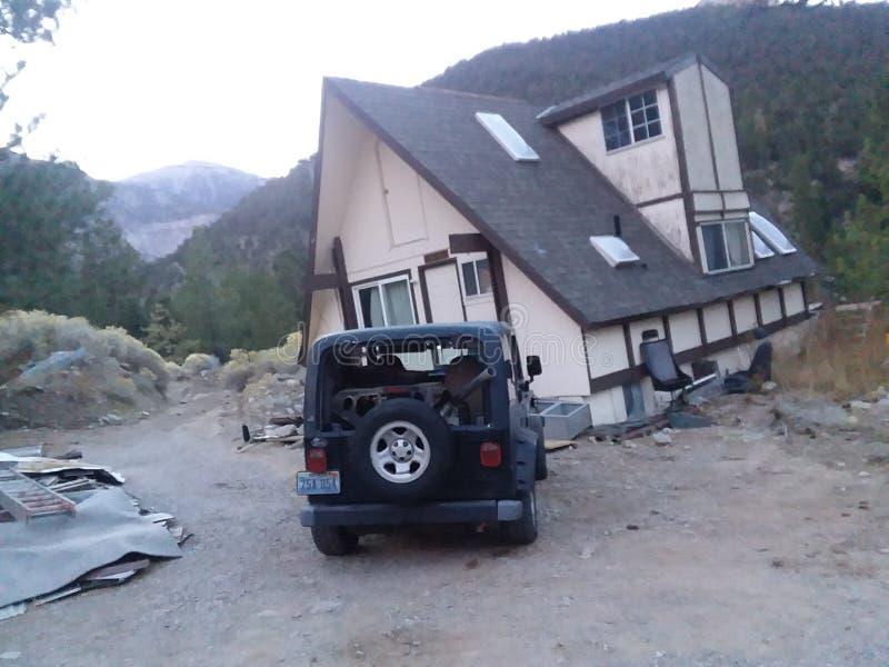 Een a-Kader in mijn jeep bij MT charlston royalty-vrije stock afbeelding