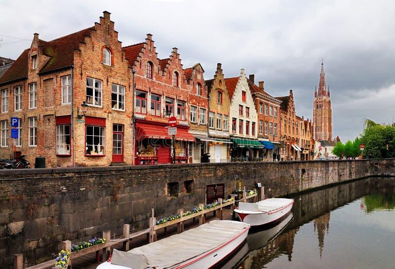 Kanaal in Brugge (Brugge), België royalty-vrije stock fotografie